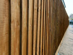 Close board Fencing on timber posts in Taunton