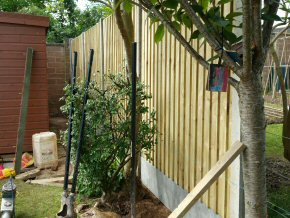 New close board fence with concrete post in Taunton