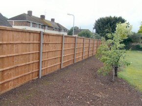Close board Fence on Concrete Posts