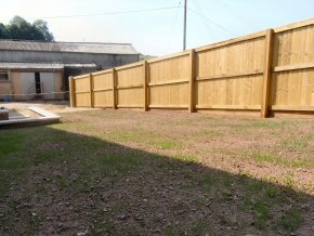 Close board Fence on Timber Posts