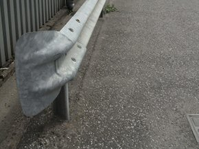 Crash barrier at Wellington factory