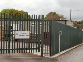 W-Section Steel Security palisade fencing, galvanised and powder coated to finish, in Taunton.